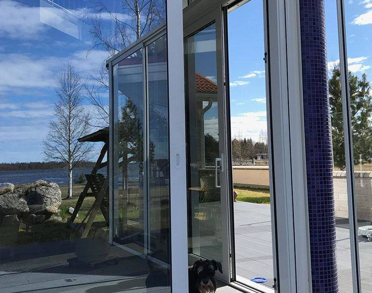 Schüco skjutdörrar aluminiumkonstruktioner Corrotech Oy Ab