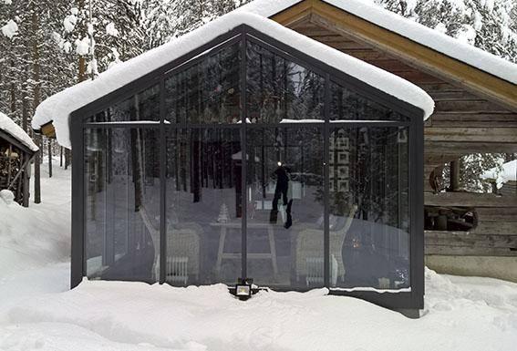 Vinterträdgård dubbel fasader Corrotech Oy Ab